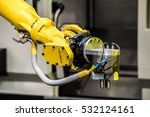 industrial robot with cnc... | Shutterstock . vector #532124161