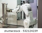 industrial robot with cnc... | Shutterstock . vector #532124239