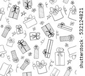 christmas gift boxes. hand... | Shutterstock .eps vector #532124821