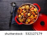 beef meat stewed with potatoes  ... | Shutterstock . vector #532127179