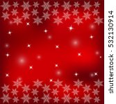 white snowflakes on a red... | Shutterstock . vector #532130914