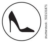 elegant women's shoe. menu item ...   Shutterstock .eps vector #532131871