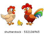vector illustration of hen ... | Shutterstock .eps vector #532136965