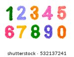 crochet colored numbers and... | Shutterstock . vector #532137241