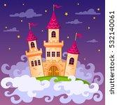fantasy fairy tale castle in... | Shutterstock .eps vector #532140061