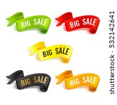 set of colored ribbons. big... | Shutterstock .eps vector #532142641