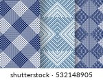 set of 3 abstract patterns.... | Shutterstock .eps vector #532148905