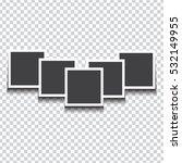 pile of photo frames on... | Shutterstock .eps vector #532149955