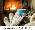 warming and relaxing near... | Shutterstock . vector #532151161