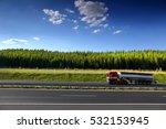 truck transportation | Shutterstock . vector #532153945