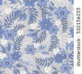 vector seamless pattern flowers ... | Shutterstock .eps vector #532156255