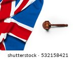 Union Jack Flag And Gavel
