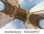 the arc de triomphe de l'etoile ... | Shutterstock . vector #532160947