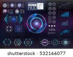 hud background outer space.... | Shutterstock .eps vector #532166077