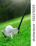 golf club and ball on green... | Shutterstock . vector #532170355
