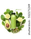 bottled detox drink surrounded... | Shutterstock . vector #532171249