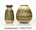 Israeli  Ceramic Pair  Two...