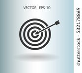 flat icon of aim vector... | Shutterstock .eps vector #532178869