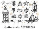sketch christmas decorations. | Shutterstock .eps vector #532184269