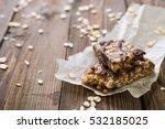 muesli bars with milk chocolate | Shutterstock . vector #532185025