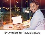 portrait of businesswoman... | Shutterstock . vector #532185601