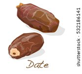 dates isolated on white... | Shutterstock . vector #532186141