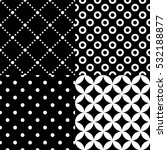 seamless geometric pattern set... | Shutterstock .eps vector #532188877