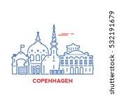 copenhagen city architecture... | Shutterstock .eps vector #532191679