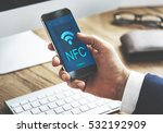 communication connection... | Shutterstock . vector #532192909
