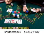 couple playing poker at the... | Shutterstock . vector #532194439