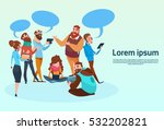 people chat digital device... | Shutterstock .eps vector #532202821