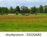Wooden rail fence - stock photo