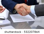 two business man shaking hands... | Shutterstock . vector #532207864