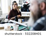 resting lunch time pizza concept | Shutterstock . vector #532208401