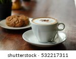 morning coffee  cappuccino... | Shutterstock . vector #532217311