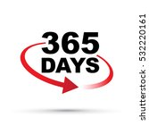 365 days a year around the... | Shutterstock .eps vector #532220161