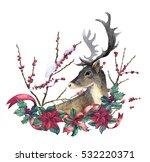 reindeer and christmas... | Shutterstock . vector #532220371