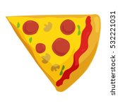 Fast Food Pizza Slice Icon....