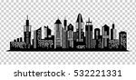 cityscape black icon on... | Shutterstock .eps vector #532221331