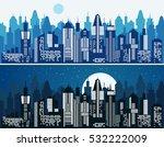 set of cityscape background.... | Shutterstock .eps vector #532222009