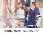 businesswoman using digital... | Shutterstock . vector #532227277