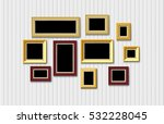 Gold Picture Frame Set On Plan...