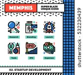 neo memphis style icons with... | Shutterstock .eps vector #532230439