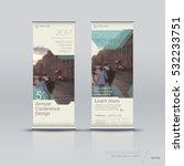 roll up banner design brochure... | Shutterstock .eps vector #532233751