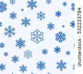 snowflakes seamless pattern ... | Shutterstock .eps vector #532233784
