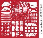 vector ink and paint textures... | Shutterstock .eps vector #532237945