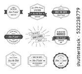 set of wedding badges. retro  ... | Shutterstock .eps vector #532238779