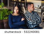 couple at cafe during lunch.... | Shutterstock . vector #532240081