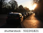 row of parking cars on street... | Shutterstock . vector #532241821