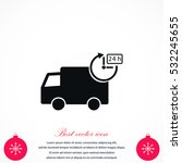delivery icon  flat design best ...